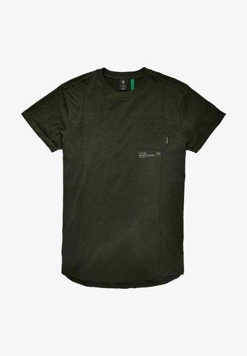LASH POCKET BACK GRAPHIC - T-shirt med print - raven