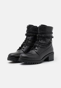 Dune London - PRIMROSE - Kovbojské/motorkářské boty - black - 2