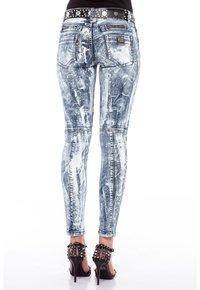 Cipo & Baxx - MIT BIKER-ELEMENTEN - Jeans Skinny Fit - blau - 2