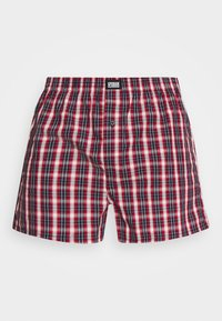 Urban Classics - WOVEN PLAID DOUBLE 2 PACK - Boxershort - red/navy - 1