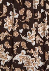Glamorous Petite - RUFFLE MIDAMI DRESSES WITH PLUNGING NECKLINE WIDE STRAPS  - Maxi dress - dark brown - 2