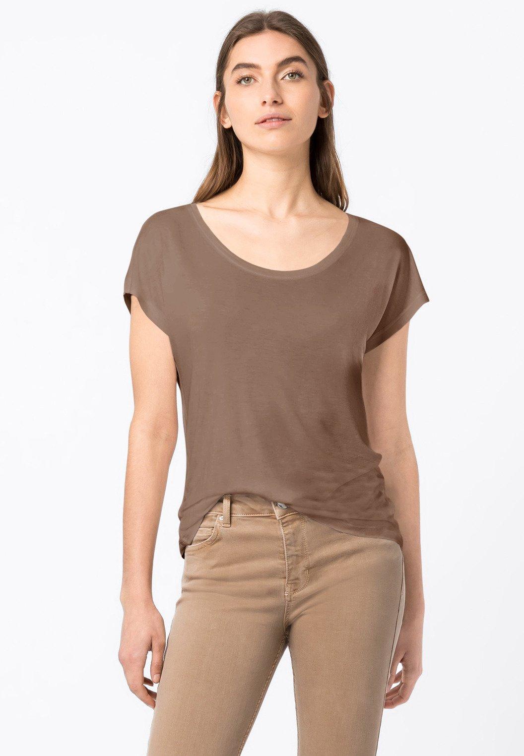 Damen WEIT GESCHNITTENES - T-Shirt basic