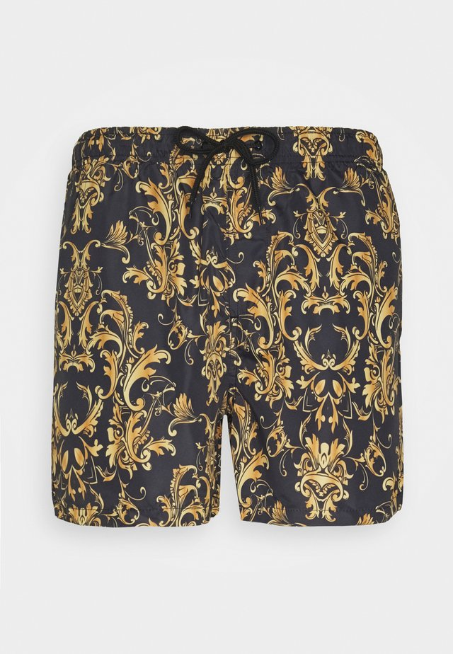 BLENHEIM - Swimming shorts - black/gold