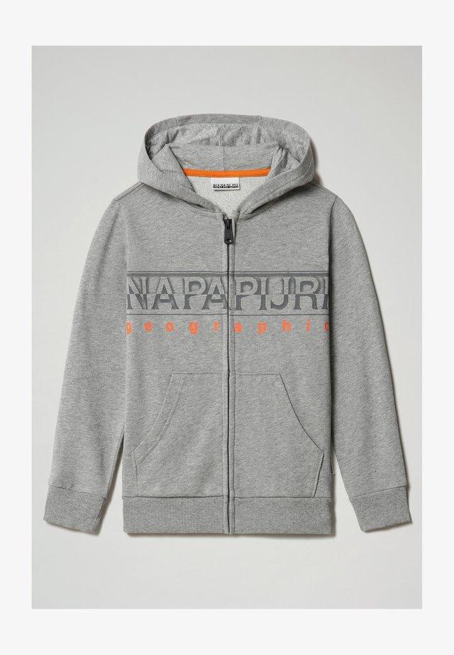 BADYR FULL ZIP HOOD - veste en sweat zippée - medium grey melange