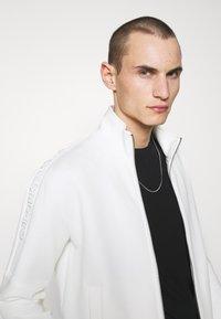 Emporio Armani - Zip-up sweatshirt - white - 3