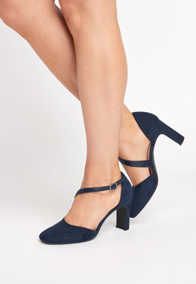 ASYMMETRIC - Classic heels - blue
