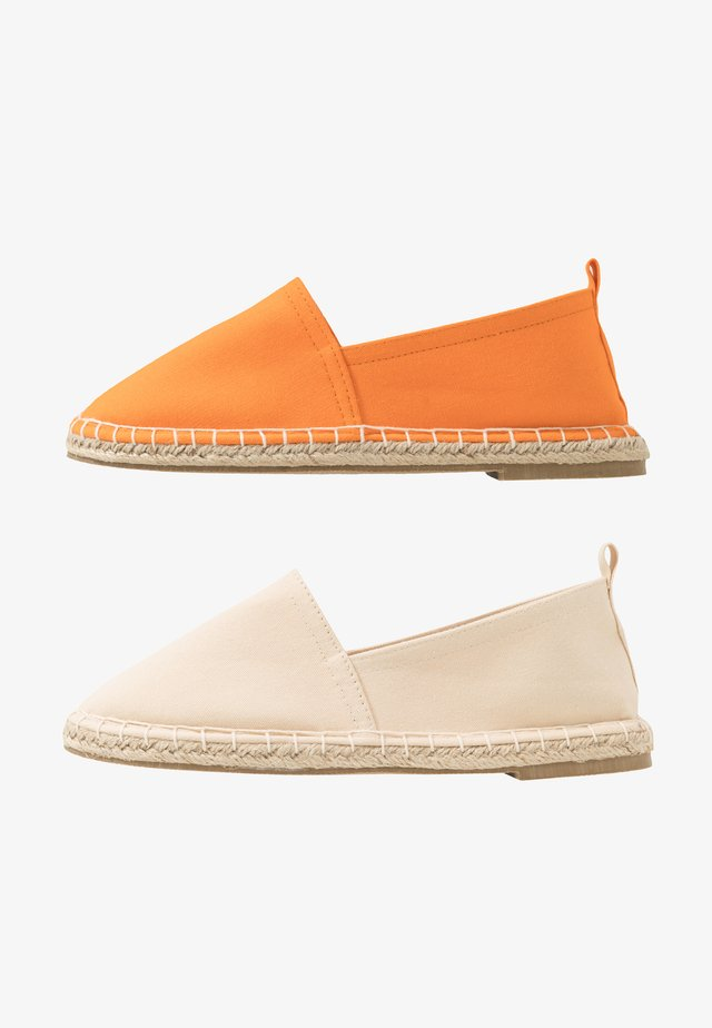 2 PACK  - Espadrillas - beige/orange