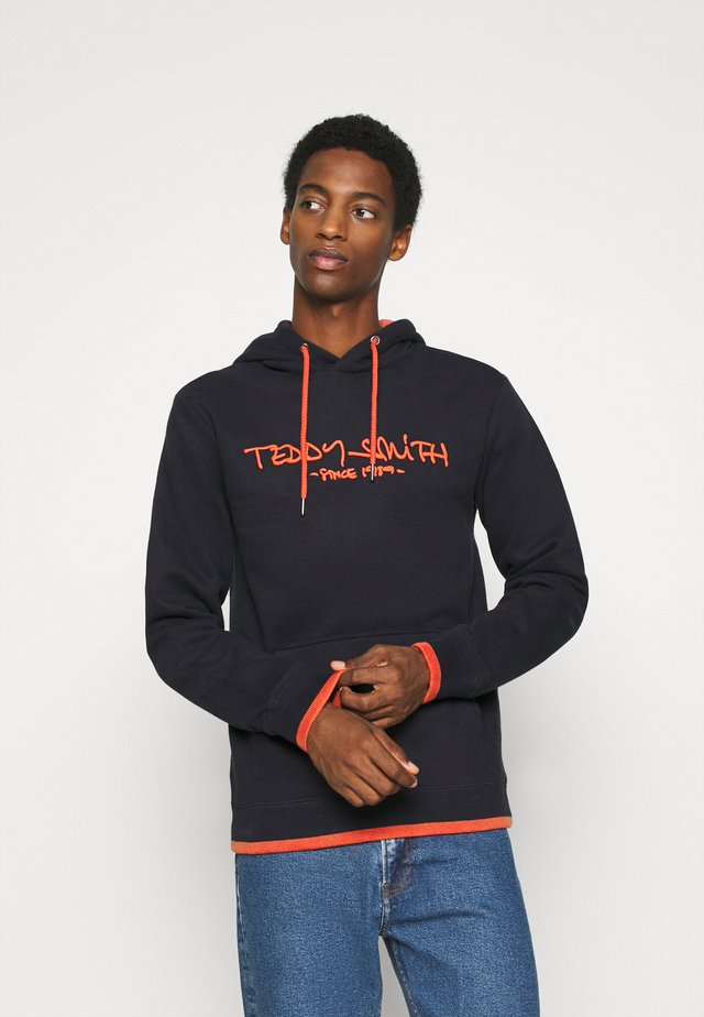 SICLASS - Hoodie - dark navy/red orange