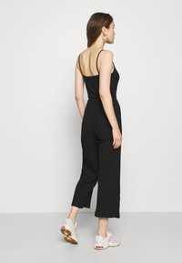 Even&Odd - BASIC - STRAPPY RIPPED JUMPSUIT - Jumpsuit - black - 2