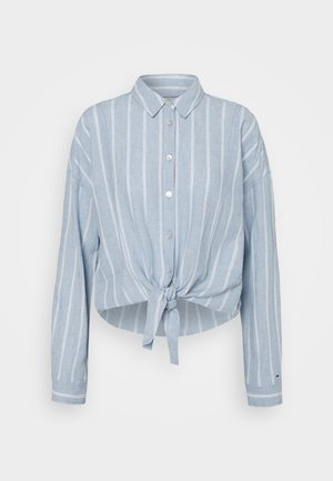 TJW RELAXED FRONT KNOT  - Chemisier - moderate blue/stripe