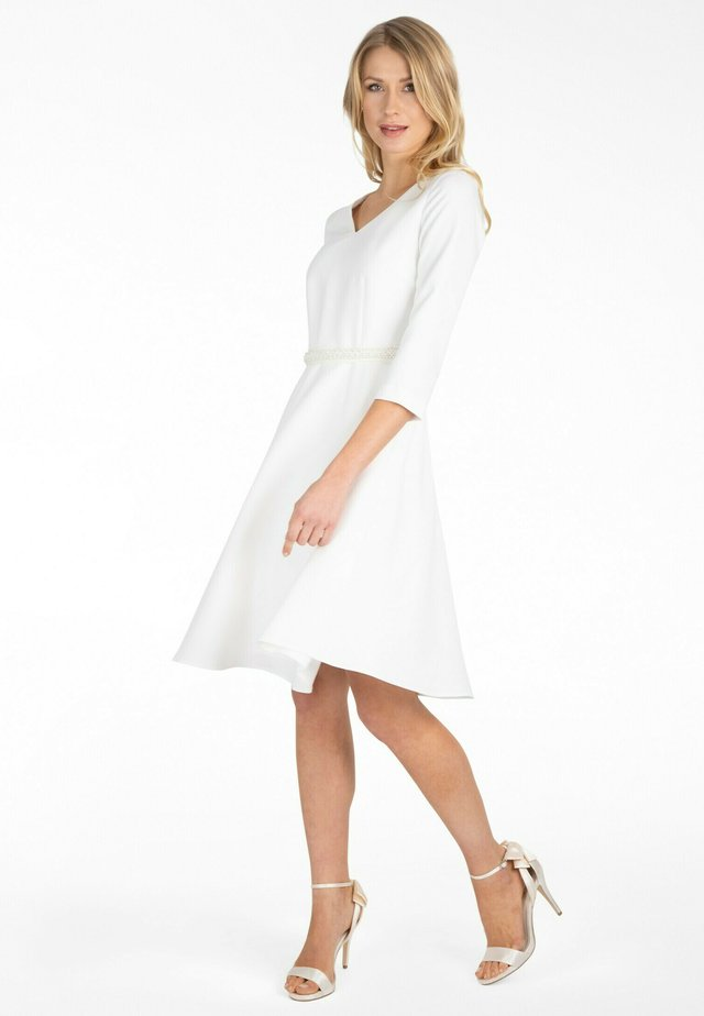Korte jurk - creme