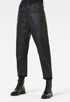 C-STAQ  BOYFRIEND CROP WMN - Relaxed fit jeans - waxed black cobler