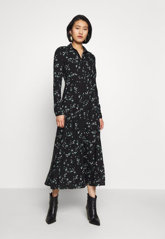 PRINTED DRESS - Shirt dress - black