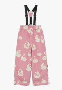 Småfolk - WINTER PANTS WITH SWAN - Snow pants - winter pink - 0
