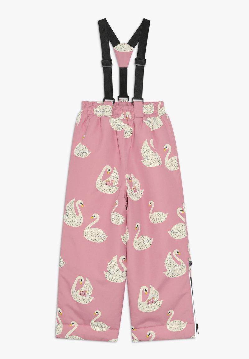 Småfolk - WINTER PANTS WITH SWAN - Snow pants - winter pink