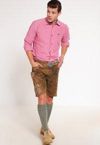 Stockerpoint - CORBI - Leather trousers - havanna - 1