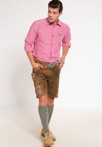 Stockerpoint - CORBI - Kožené kalhoty - havanna - 1
