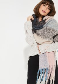 comma - MIT COLOURBLOCK-MUSTER - Scarf - light pink/teal/grey - 1