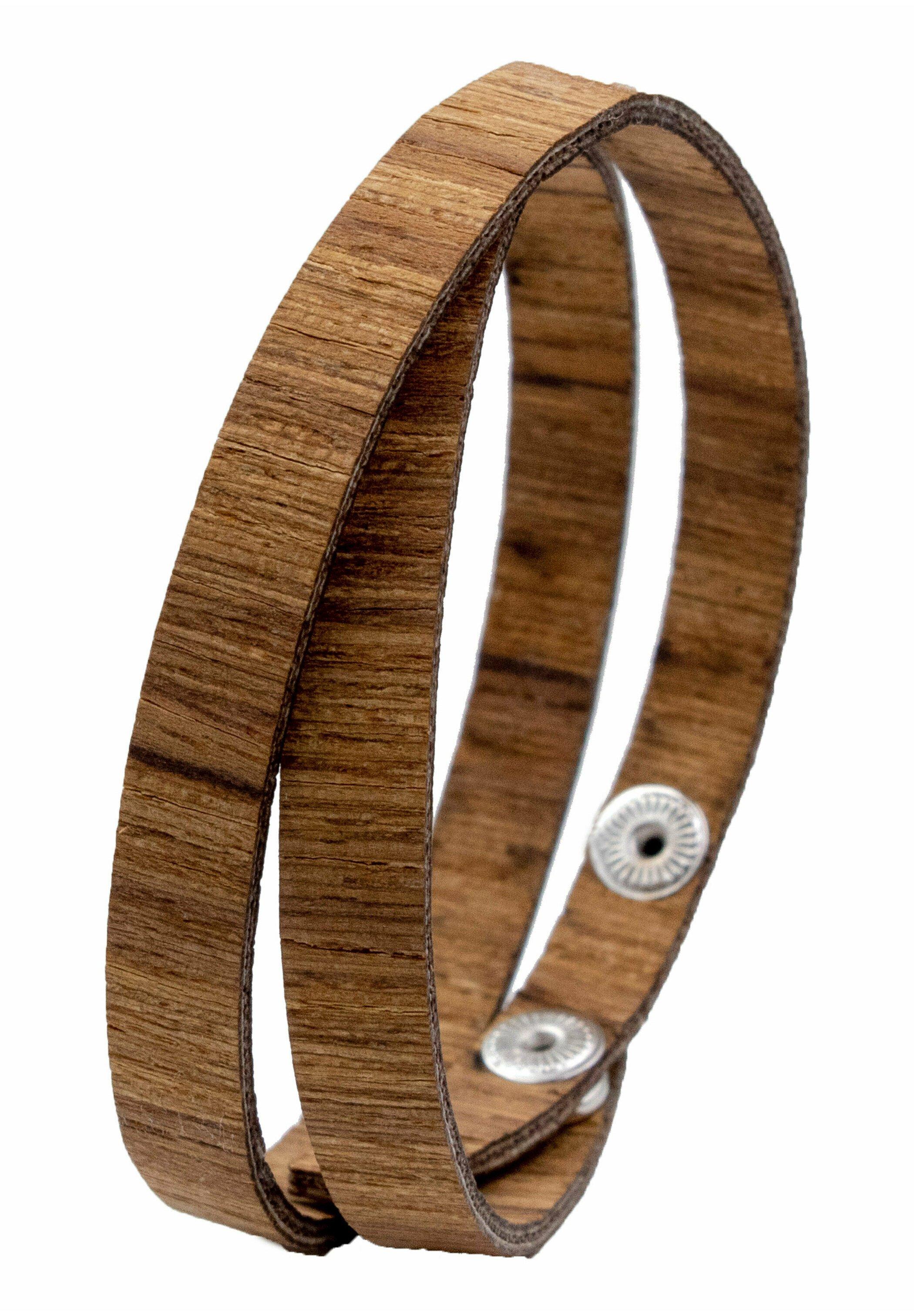 Homme LAIMER WICKEL-ARMBAND AUS TEAKHOLZ - S1111 - Bracelet