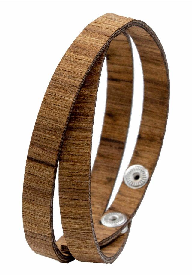 LAIMER WICKEL-ARMBAND AUS TEAKHOLZ - S1111 - Bracelet - ocher