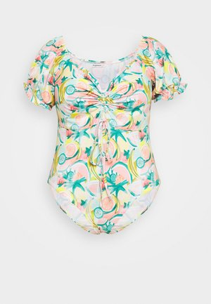 FRUIT GATHERED BUST BODYSUIT - Print T-shirt - pink/multi