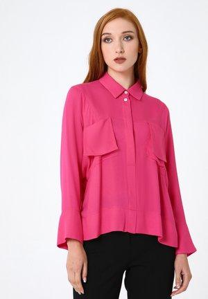Button-down blouse - fuchsie