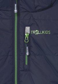 TrollKids - NARVIK UNISEX - Waistcoat - navy/bright green - 3