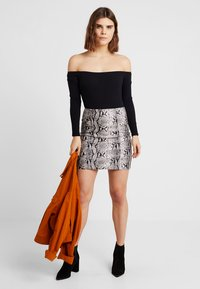 New Look - BARDOT BODY - Long sleeved top - black - 1