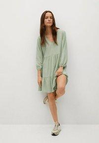 Mango - Day dress - pastellgrün - 1