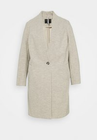 Dorothy Perkins Curve - COLLARLESS UNLINED HERRINGBONE - Manteau classique - oatmeal - 0