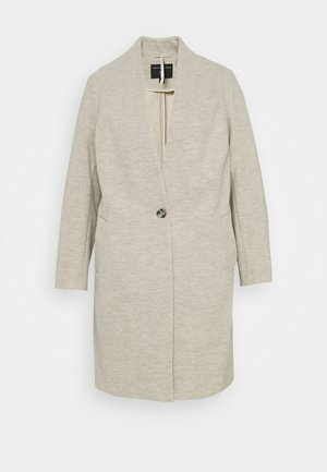 COLLARLESS UNLINED HERRINGBONE - Classic coat - oatmeal