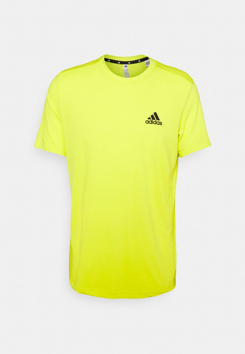 adidas Performance - T-shirt basic - aciyel/black