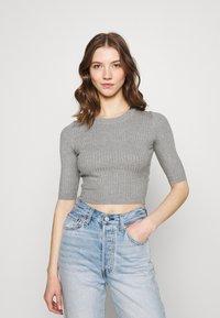 Even&Odd - 2 PACK - T-shirt basic - mottled grey/sand - 1