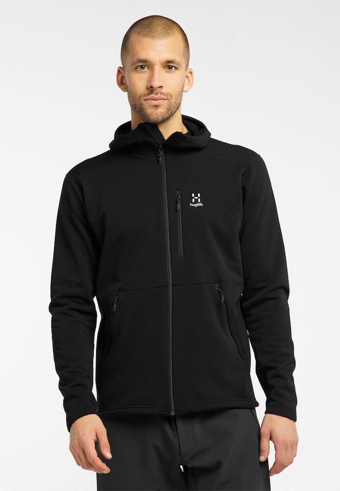 Haglöfs - BUNGY HOOD - Fleece jacket - true black