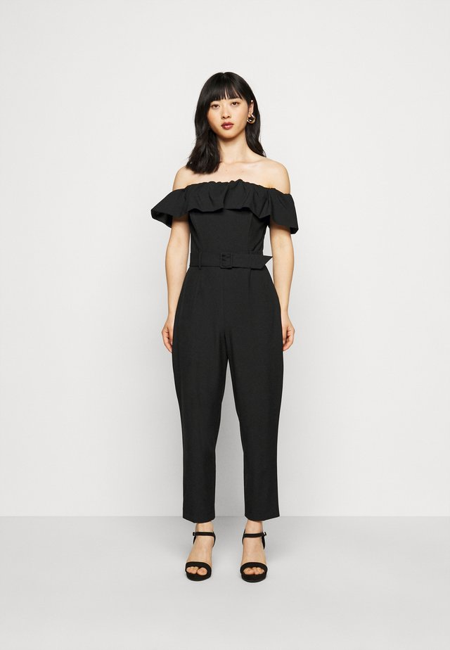 BARDOT JUMPSUIT - Kombinezon - black