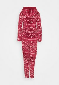 Hunkemöller - ONESIE FAIRISLE - Pyjamas - rumba red - 1