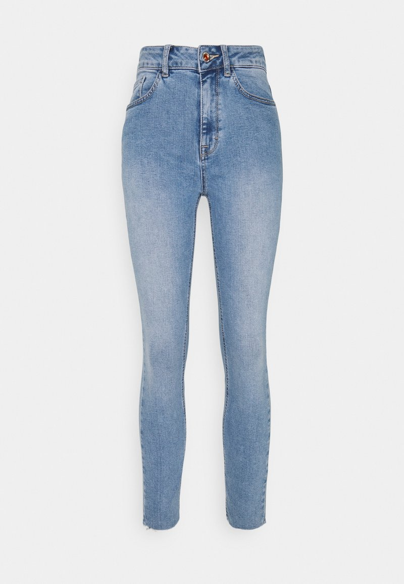 mine to five TOM TAILOR - SKINNY WITH OPEN HEM - Jeans Skinny Fit - light stone blue denim