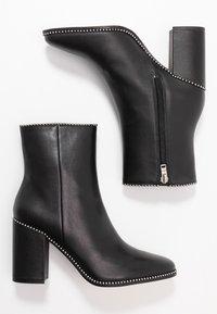 Coach - BEADCHAIN HEELED BOOTIE - Højhælede støvletter - black - 3