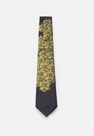 CORNELL TIE - Cravate - black/gold-coloured