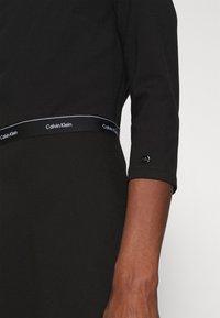 Calvin Klein - MILANO DRESS - Žerzejové šaty - black - 5