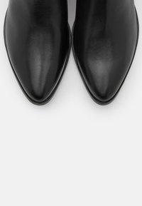 Marco Tozzi - BOOTS  - Cowboy/biker ankle boot - black - 5
