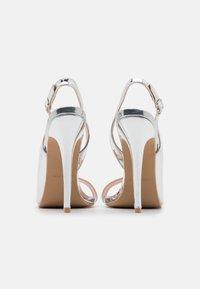 BEBO - BRISA - Sandály na vysokém podpatku - silver - 3