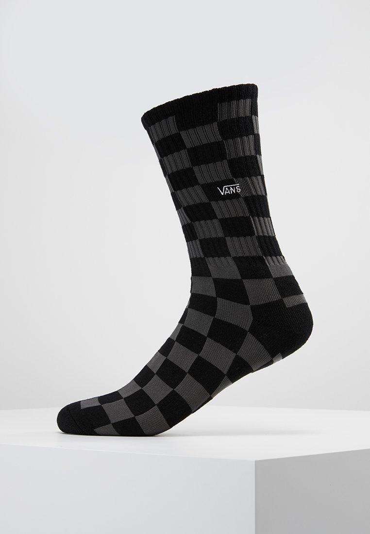 Vans - UA CHECKERBOARD CREW II (6.5-9, 1PK) - Socks - black charcoal