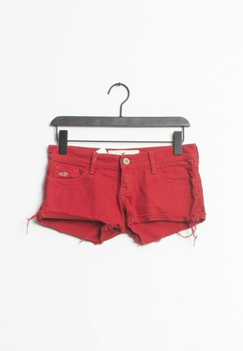 Jeansshort - red