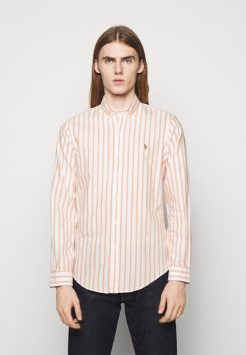 OXFORD - Shirt - orange/white
