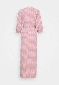 Vila - VIDOLETTA WRAP CHECK DRESS - Maxi dress - dusty cedar/white - 1