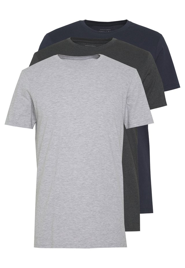 ESSENTIAL TEE 3 PACK - T-shirt basic - grey marle/ true navy/ charcoal marle