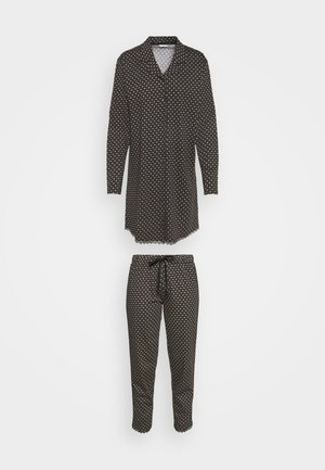 GLENICE NIGHTHIRT LONSLEEVE - Pyjamas - black