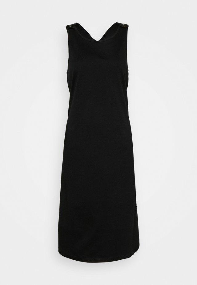 A-LINE DUNGAREE CAMO AO DRESS - Jersey dress - black