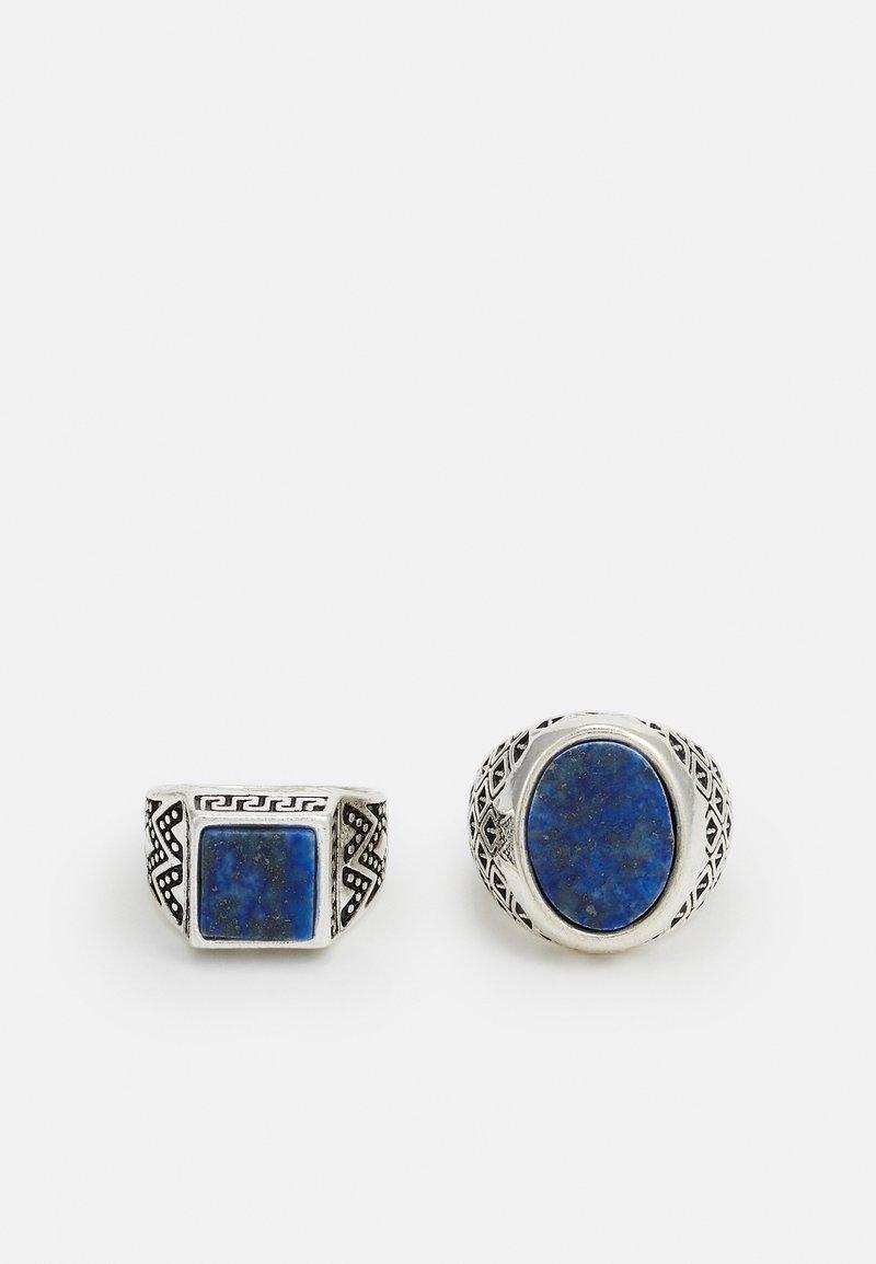 Burton Menswear London - SIGNET SET - Anello - blue